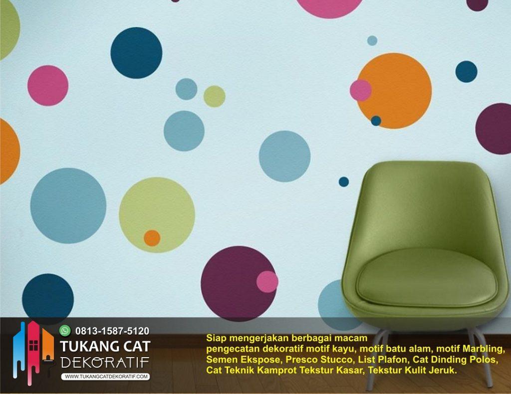cat dekoratif motif polkadot