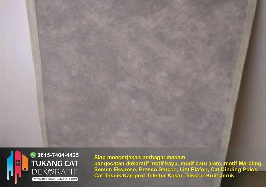 cat dekoratif motif semen ekspose