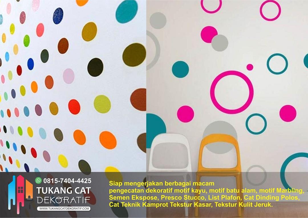 cat motif polka dots