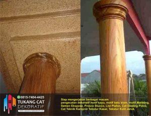 cat dekoratif motif kayu