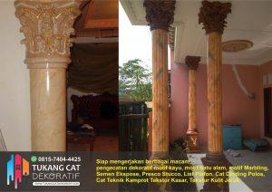cat dekoratif motif marmer
