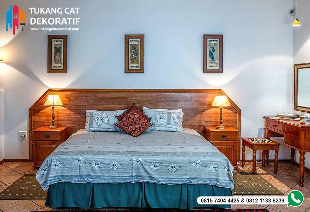 kamar tidur cat biru 2 - TUKANG CAT DEKORATIF